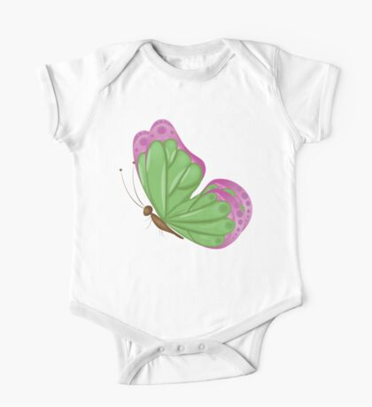 Abstract colorful butterfly 8 One Piece - Short Sleeve