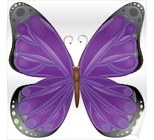 Abstract colorful butterfly 10 Poster
