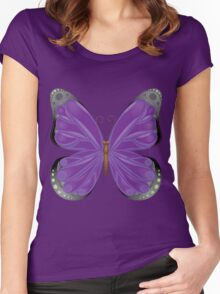 Abstract colorful butterfly 10 Women's Fitted Scoop T-Shirt