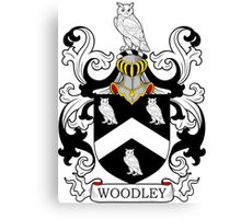 Woodley Coat of Arms Canvas Print