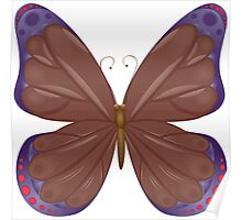 Abstract colorful butterfly 12 Poster