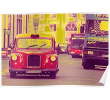 london taxi Poster