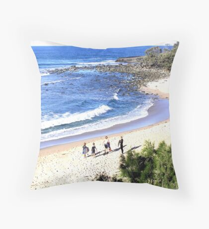 Angourie Surfers  Throw Pillow
