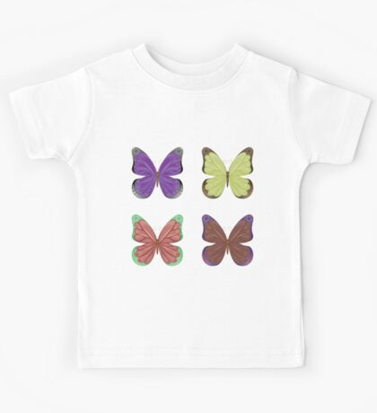 Abstract colorful butterflies 2 Kids Tee