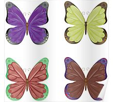 Abstract colorful butterflies 2 Poster