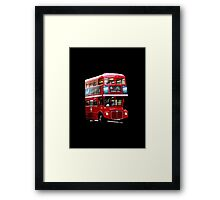 Here Comes A London Bus! Framed Print