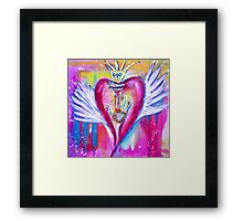 You Touched My World & Set My Heart A-Flutter Framed Print