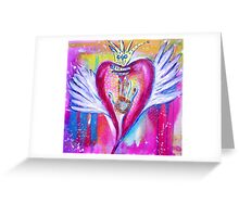 You Touched My World & Set My Heart A-Flutter Greeting Card