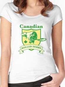 Canadian Roller Derby Women's Fitted Scoop T-Shirt