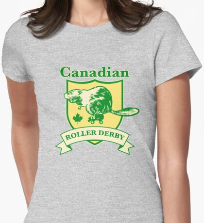 Canadian Roller Derby Womens Fitted T-Shirt