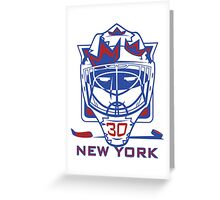 New York Hockey T-Shirt II Greeting Card