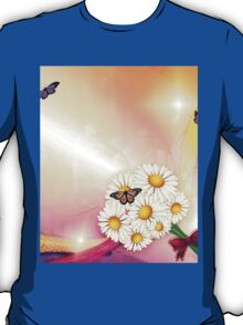 Camomiles and butterfly T-Shirt