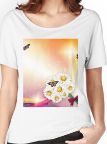 Camomiles and butterfly Women's Relaxed Fit T-Shirt