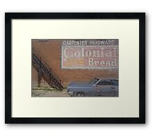 Caddy and Building Framed Print
