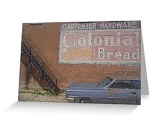 Caddy and Building Greeting Card