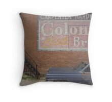 Caddy and Building Throw Pillow