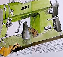 sewing machine by Evelyn Bach