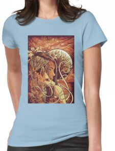 orange fox Womens Fitted T-Shirt