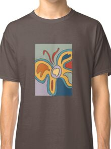 Blue and Yellow Abstract Butterfly Classic T-Shirt