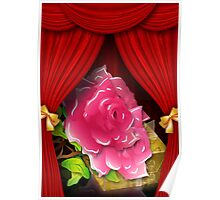Card with roses and gift box Poster