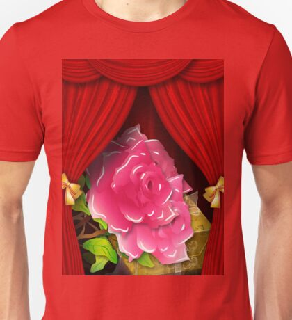 Card with roses and gift box Unisex T-Shirt