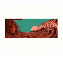 blood waves Art Print