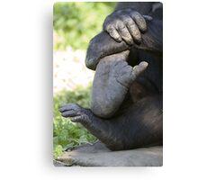 Gorilla Digits Canvas Print