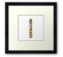 The number One Part of a set of letters, Numbers and symbols of the Alphabet made with flowers Framed Print