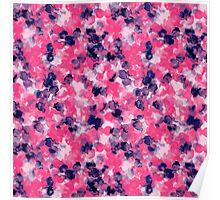 Filigree Pink Indigo Poster