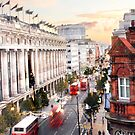 Oxford Street Early Morning by Lucy Hollis