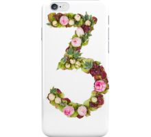 The number Three Part of a set of letters, Numbers and symbols iPhone Case/Skin