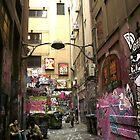 Graffiti lane, Melbourne by Roz McQuillan