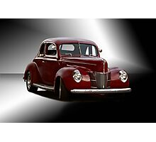 1940 Ford Deluxe Coupe 'Studio' Photographic Print