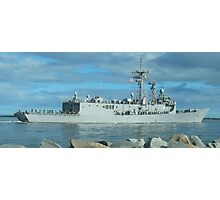 US NAVY FRIGATE DEPLOYING for FIVE MONTHS Photographic Print