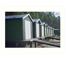 Boat sheds Art Print