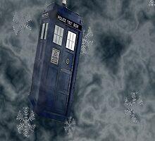 Tardis Snow Storm by lilliesartpad