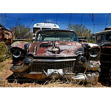 Caged Cadillac Photographic Print