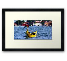 Gondoliere Canal Grande Venice Italy Framed Print