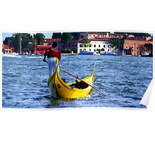 Gondoliere Canal Grande Venice Italy Poster