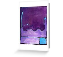 Blue Square Greeting Card