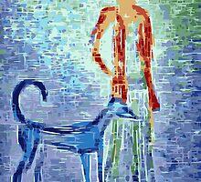 Girl and her faithful dog by rayemond