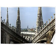 Look of the Milan cathedral  Poster