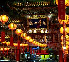 Tokyo - Chinatown Temple Lanterns by Nick  Nguyen