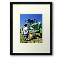 Little Boy - Big Tractor Framed Print