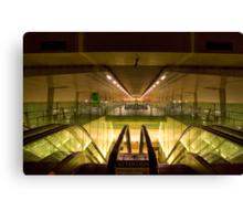 Escalators and Travelators Canvas Print