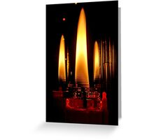 Water Candles Greeting Card