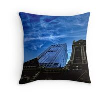 Juxtaposed Buildings Throw Pillow