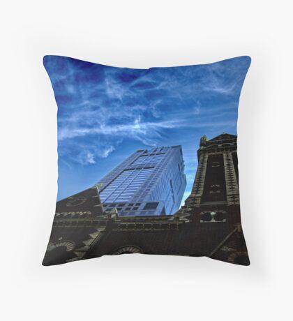 Juxtaposed Buildings Throw Pillow