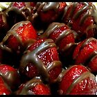 Chocolate coated strawberrys. by Melissa  Carroll