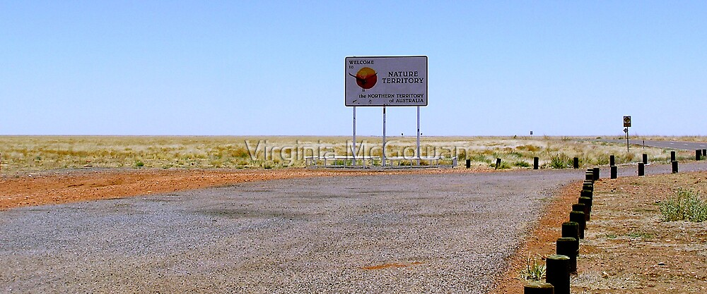Border of Queensland and Northern Territory Outback Australia by Virginia McGowan